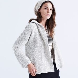 MADEWELL Textural Hooded Sweater Cardigan {O43}